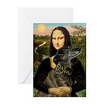 Mona / Greyhound(br) Greeting Card