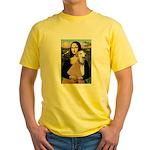 Mona / Greyhound (f) Yellow T-Shirt