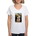 Mona / Greyhound (f) Women's V-Neck T-Shirt
