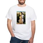 Mona / Greyhound (f) White T-Shirt