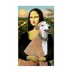 Mona / Greyhound (f) Sticker (Rectangle)