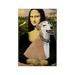 Mona / Greyhound (f) Rectangle Magnet