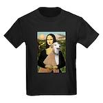 Mona / Greyhound (f) Kids Dark T-Shirt