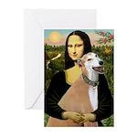 Mona / Greyhound (f) Greeting Cards (Pk of 20)