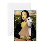 Mona / Greyhound (f) Greeting Card