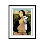 Mona / Greyhound (f) Framed Panel Print