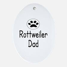 Cute Rottweiler dad Oval Ornament