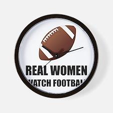 Real Women Watch Football Wall Clock
