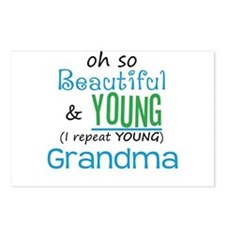 Beautiful and Young Grandma Postcards (Package of