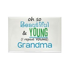 Beautiful and Young Grandma Rectangle Magnet