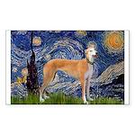 Starry / Greyhound (f) Sticker (Rectangle)