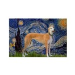 Starry / Greyhound (f) Rectangle Magnet (10 pack)