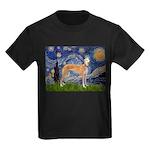 Starry / Greyhound (f) Kids Dark T-Shirt