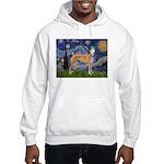 Starry / Greyhound (f) Hooded Sweatshirt