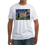 Starry / Greyhound (f) Fitted T-Shirt