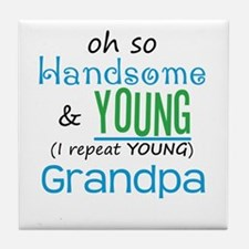 Handsome and Young Grandpa Tile Coaster