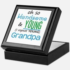 Handsome and Young Grandpa Keepsake Box