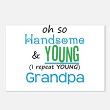 Handsome and Young Grandpa Postcards (Package of 8