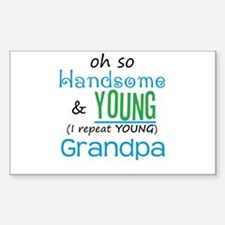 Handsome and Young Grandpa Rectangle Decal