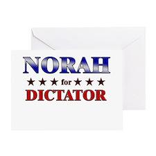 NORAH for dictator Greeting Card