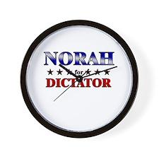 NORAH for dictator Wall Clock