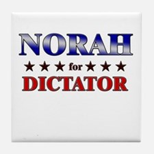 NORAH for dictator Tile Coaster