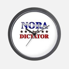 NORA for dictator Wall Clock