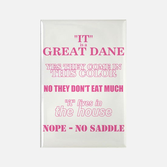 Great Dane Walking Answers Rectangle Magnet