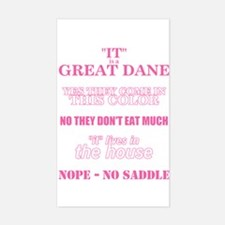 Great Dane Walking Answers Rectangle Decal