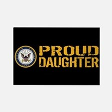 U.S. Navy: Proud Daughter (Black) Rectangle Magnet