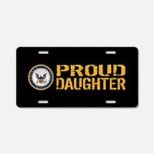 U.S. Navy: Proud Daughter ( Aluminum License Plate