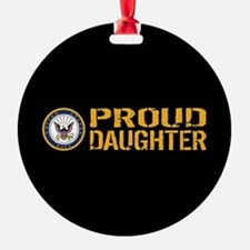 U.S. Navy: Proud Daughter (Black) Ornament