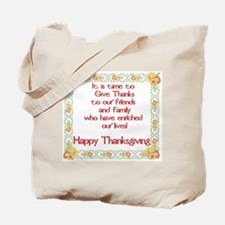 Time to Give Thanks Tote Bag