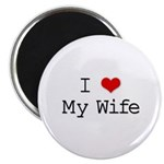 I Heart My Wife Magnet