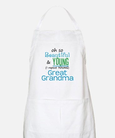Beautiful and Young Great Grandma BBQ Apron