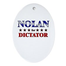NOLAN for dictator Oval Ornament