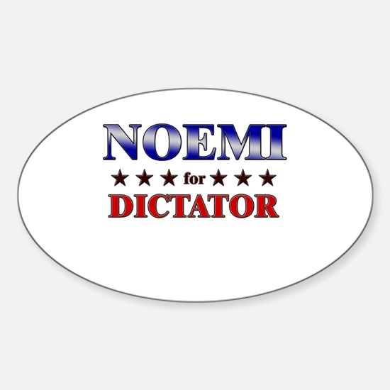NOEMI for dictator Oval Decal
