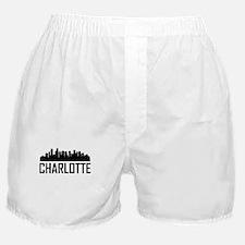 Skyline of Charlotte NC Boxer Shorts