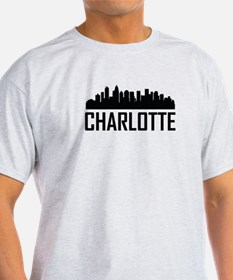 Skyline of Charlotte NC T-Shirt