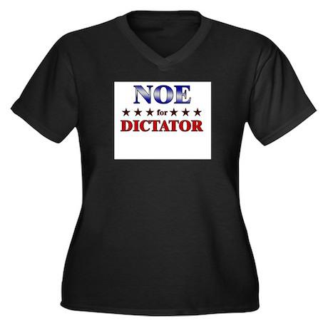 NOE for dictator Women's Plus Size V-Neck Dark T-S