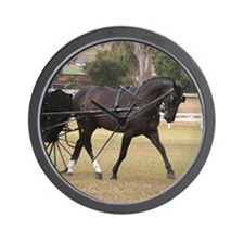 Funny Standardbred horse Wall Clock