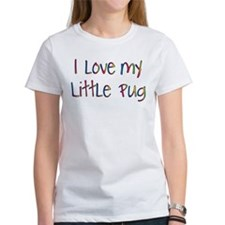 Cheerful Love My Pug Tee