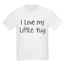 Cheerful Love My Pug T-Shirt