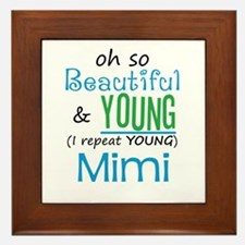 Beautiful and Young Mimi Framed Tile