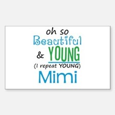 Beautiful and Young Mimi Rectangle Decal
