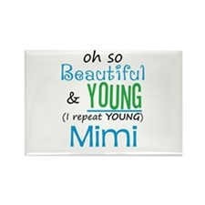 Beautiful and Young Mimi Rectangle Magnet
