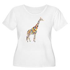 Multicolored Giraffe T-Shirt
