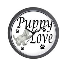 Neapolitan Mastiff Puppy Love Wall Clock