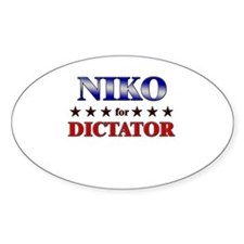 NIKO for dictator Oval Decal