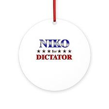 NIKO for dictator Ornament (Round)